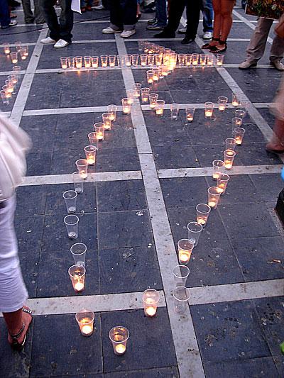 Κεριά με το σχήμα της Γεωργίας